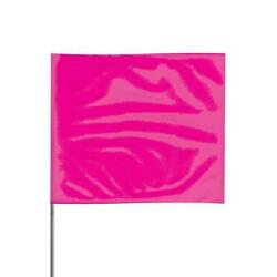 Presco 2 X 3 Pink Glo Marking Flags W/ 24 Staff Pack Of 1000 - 2324pg