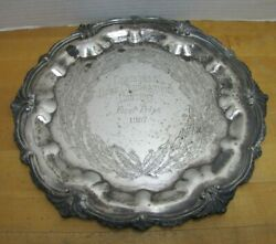1957 Christmas Home Decorations Contest First Prize Queen Victoria Silver Plate