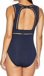 Michael Womenand039s Solids Wrap Shirred Neck One-piece
