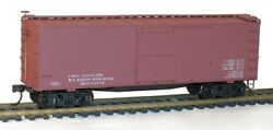 Accurail 1398 36' Double Sheathed Wood Boxcar Mtl End Data Only Mineral Red 2pak
