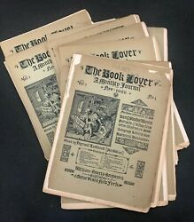 Antique 1888 Book Lover Monthly Journal Magazine Bibliophile Collecting Lot 1st