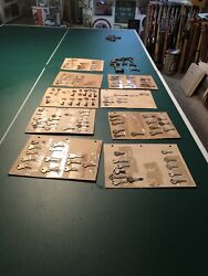 Key Collection Lot To 1860s 150+ All Sorts Of Names Plus Skeleton Old Antique