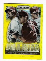 2013 Mike Trout Panini Gold Prizm Rc Albert Pujols Band Of Brothers Ser01/10