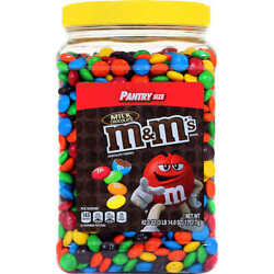 Mandm's Milk Chocolate Candies- Pantry Size Two Containers Of 62 Ounces