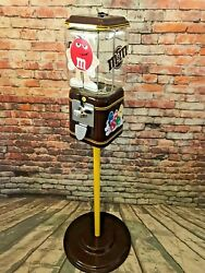 Chocolate Mandm Candy Machine Vending Vintage 1andcent Acorn Glass Penny Machine