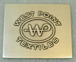 Vtg West Point Manufacturing Company Textiles 75th Anniversary 1955 Brass Plaque