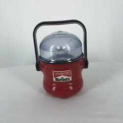 Vintage Marlboro Unlimited Gear Camping Lantern Flashlight Lamp Red With Handle