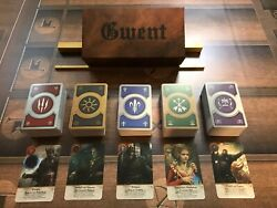 Gwent Cards 5 Decks Witcher 3 Complete Set With Box
