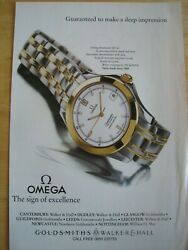 Omega Watch Seamaster 120m Poster Advert Ready To Frame A4 Size File O