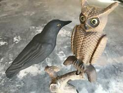 Owl Swisher And Soules Crow Herterand039s Etc. Paper Mache Decoys