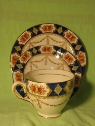Arklow Pottery Alton 810 Teacup And Saucer And Plate Set Ireland 1930s