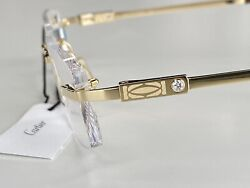 CARTIER ULTRARARE EYEGLASSES WITH DIAMONDS 100% AUTHENTIC NEW RETAIL $4100