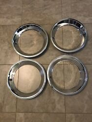Amc Javelin Gremlin Hornet Amx 14andrdquo Replacement Style Rally Wheel Trim Ring Set