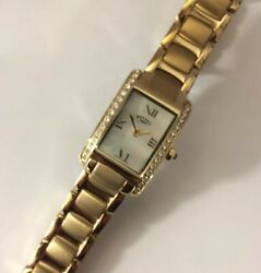 Vintage Rotary Ladies Gold Plated Watch Oblong Quartz Full Working Order