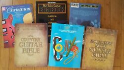 Lot Of 6 Music Books For Piano And Guitar + 1 Free Country, Rock, Lounge, Solo