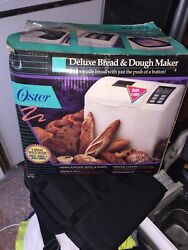 Oster Deluxe Bread And Dough Maker Model 4812 W/guide New Old Stock Nib Nos Rare