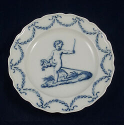 Rare Antique Meissen Blue And White Plate From The And039kinder A La Raphaeland039 Service