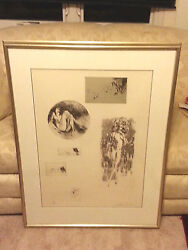 Leroy Neiman Six Nudes Ltd Edition Etching 104 Of 250andndash Double Matted/frmed/ Coa