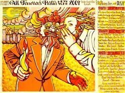 The Flaming Lips Concert Poster 2009 All Tomorrows Parties Ny