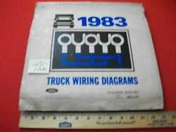 Vintage 1983 Ford Light To Heavy Duty Trucks Electrical Wiring Diagrams Manual