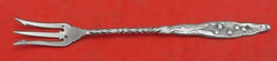 Lily Of The Valley By Whiting Sterling Silver Pickle Fork 3-tine With Twist 10