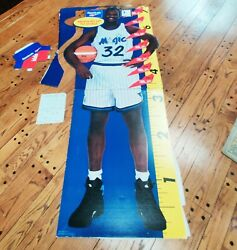 Vtg Shaquille Oand039neal Cardboard Lifesize Rare 90s Promotional Reebok Store 7 Ft