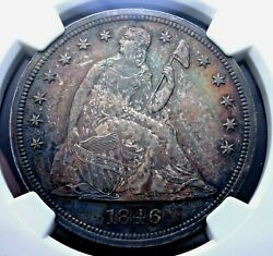 1846 Seated Liberty Dollar Ngc Ms 62 Clean Well Struck And Quite Original