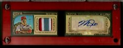2015 Gypsy Queen Mike Trout Ser10/25 Auto Mini 3 Color Jersey Relics Incredible