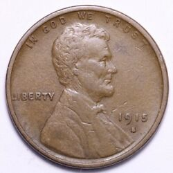 1915-s Lincoln Wheat Small Cent Penny Choice Xf Free Shipping E621 Ant