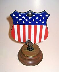United States Of America Double Sided Porcelain Hood Ornament Mascot