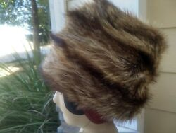 Vintage High Quality Racoon Hat Satin Lined Small Size 6 3/4- 7 Unisex Man Woman
