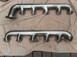 1932 - 1936 Lincoln K Series V12 Exhaust Manifolds Restored And Polished
