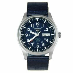Seiko 5 Snzg11j1 Automatic Blue Dial And Band Mens Made In Japan Watch