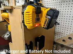 Wall Mount For Dewalt Dcb118 Charger With Optional 20v Max Battery Mounts