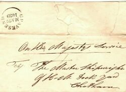 Gb Historic Naval Cover Gravesend El Re 4 Boats Ready For Painting 1839 Ep149