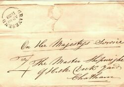 Gb Historic Naval Cover Gravesend El Re 3 Boats For Timbering 1839 Ep150
