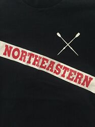 Boston Vintage Northeastern University Crew Rowing T Shirt Large