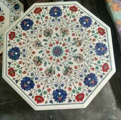 3and039 Marble Dining Coffee Center Table Top Mosaic Inlay Work F14