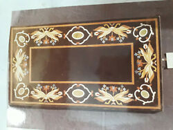 4and039x2and039 Marble Dining Coffee Center Table Top Mosaic Inlay Malachite Fh34