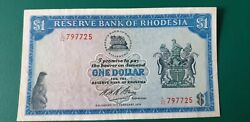 Now £10 Off Rhodesia 1 Dollar 1970 - Banknote, P30a, Vf