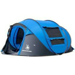 Hui Lingyang Throw Pop Up Tent 5-6 Person Outdoor Automatic Tents Double Layers