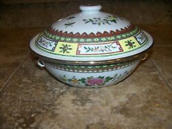 Vintage Chinese Porcelain Covered Serving Bowl And Lid Made In China Marked -n-