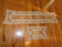 Antique Butterfly Crochet Table Runners Petite Stitching Nice