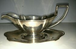 Vintage Sterling Silver Gorham Plymouth Sauce Gravy Boat And Underplate Set A2081