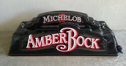 Michelob Amber Bock Beer Overhead Pool Table Light Bar Man Cave See Notesworks