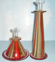 Waterford Evolution Moroccan Breeze Candlestick 2 Piece 6h And 13h Art Glass New