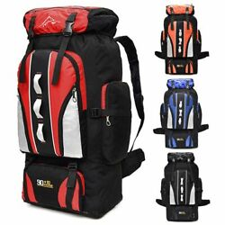 100L Outdoor Sporting Bag Hiking Camping Backpack Travel Trekking Day Pack Nylon $20.89