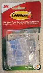 3M Command Clear Small Outdoor Light Clips 16 clips 20 strips $9.99