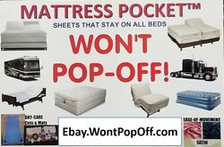 Wonand039t Pop Off Bamboo Blend King Queen Twin Split King Set Fitted Sheet 10 To 15