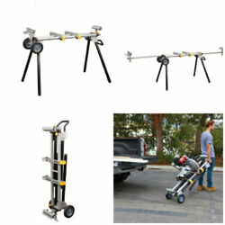 Portable Mobile Miter Saw Stand Heavy Duty Adjustable Folding Rolling Support